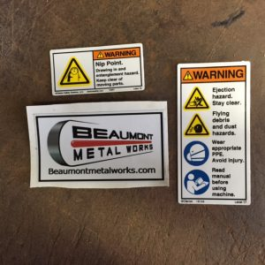Official Beaumont Metal Works Decals